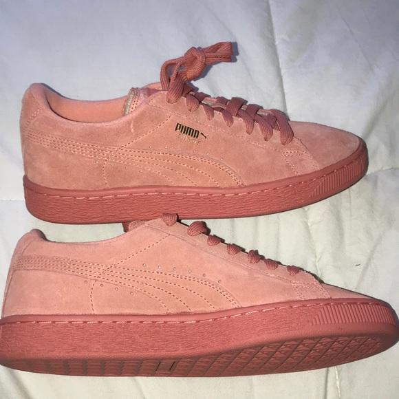 2e6bb444601ec Puma Suede Pink Sneakers
